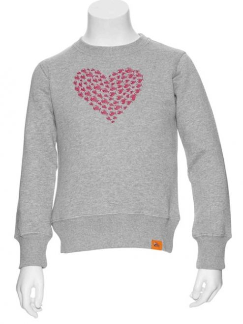 Angry Fish Heart Pull Sweater Girls